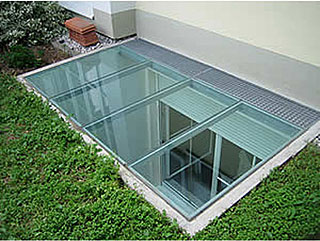 aluminium unterkonstruktion lichtschacht fertigteil. Black Bedroom Furniture Sets. Home Design Ideas